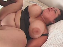 Sensual enormous honey fucking hard with horny guy