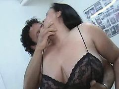 Mature BBW with big tits spoils man great bbw