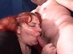 Redhead mature bbw riding on a cock great bbw