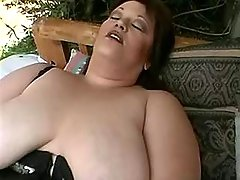Huge housewife screwed by black man on nature great bbw