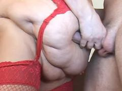 Flabby mature spoils amateur dude great bbw