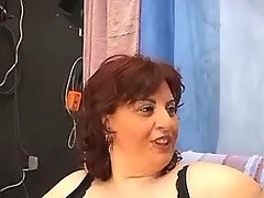 Mature breasty fat mom does blowjob in film studio great bbw