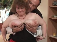 Lustful chubby granny seduces man great bbw