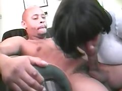 Black chabby blowing dude in hotel great bbw