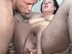 Chubby mature licked and fingered great bbw