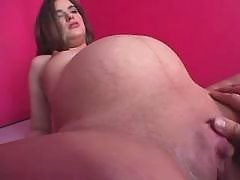 Pregnant girl sucks cock and licked by horny man great bbw