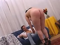 Lustful paunchy woman does perfect blowjob great bbw