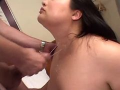 Fat asian babe fucks and gets cum great bbw