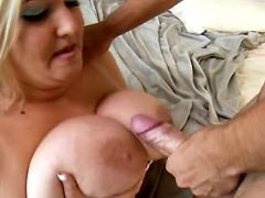 BBW fucks and gets cumload on boobs great bbw