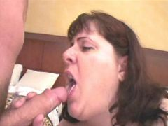 Mature fatty fucked and gets cum great bbw