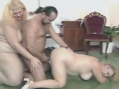 Sex adventure of two tremendous fat mature mom
