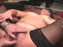 Busty plumper gets drilled by guy on sofa great bbw