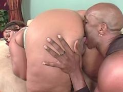 Guy eats out juicy chocolate pussy great bbw