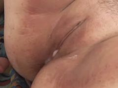 Chubby whore gets fuck and creampie great bbw