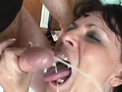 Chubby hottie gets lavish cumload great bbw
