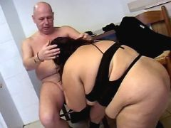 Enormous whore sucks cock of man great bbw