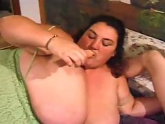 Chubby whore with big boobs nailed on sofa great bbw