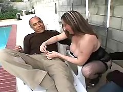 Obese housewife sucking and fucking with black man great bbw