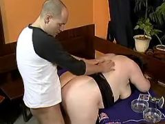 Guy drills fat girl in doggy style great bbw