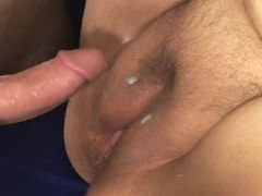 Huge woman gets cum on fat pussy great bbw