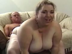 Older man fucks chubby blonde girl great bbw