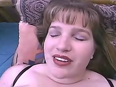 Portly ebony housewife enjoys solo sex on sofa great bbw
