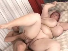 Guy fucks huge milf with giant tits great bbw
