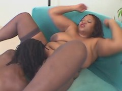 Chubby fatty fucking hard with black stud great bbw