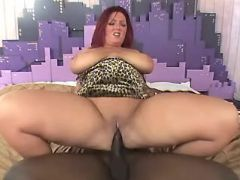 Black man fucks chubby redhead slut great bbw