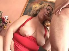 Chubby mature sucks appetizing cock great bbw