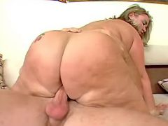 Flabby mature dances on hard dick great bbw