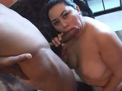Chubby asian girl sucks black cock great bbw